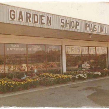 Il Garden shop Pasini alla sua apertura nell'autunno del 1981